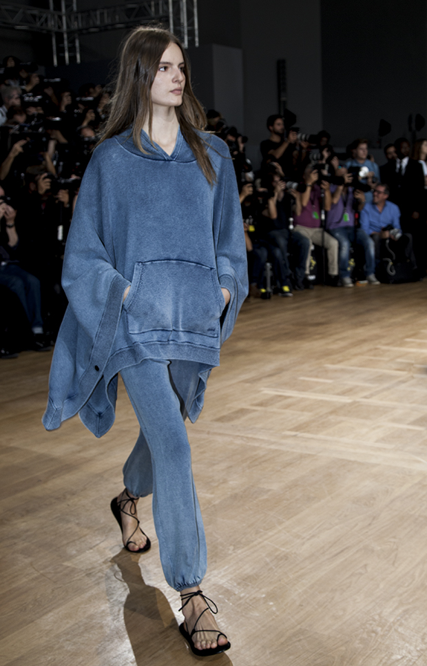 poncho in denim