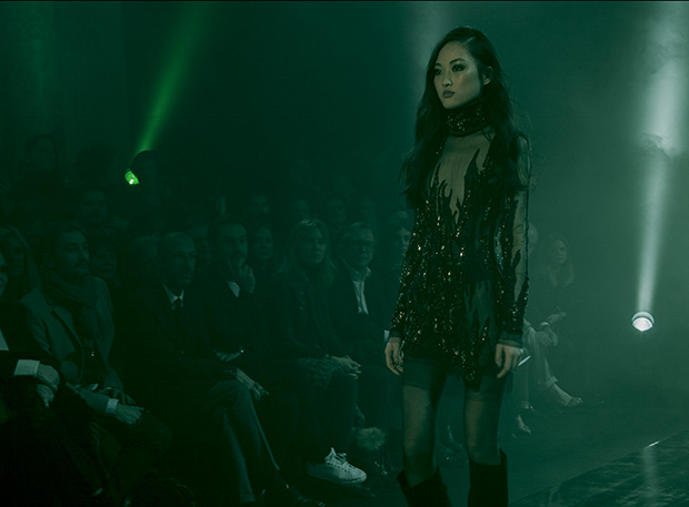 robe sequin black